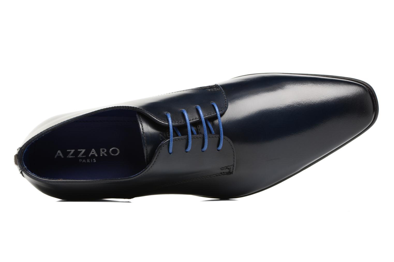 Schnürschuhe Azzaro Jory blau ansicht von links
