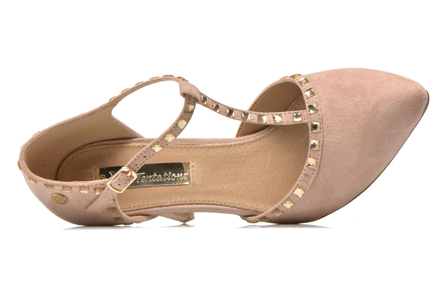 High heels Xti Nila 30093 Beige view from the left