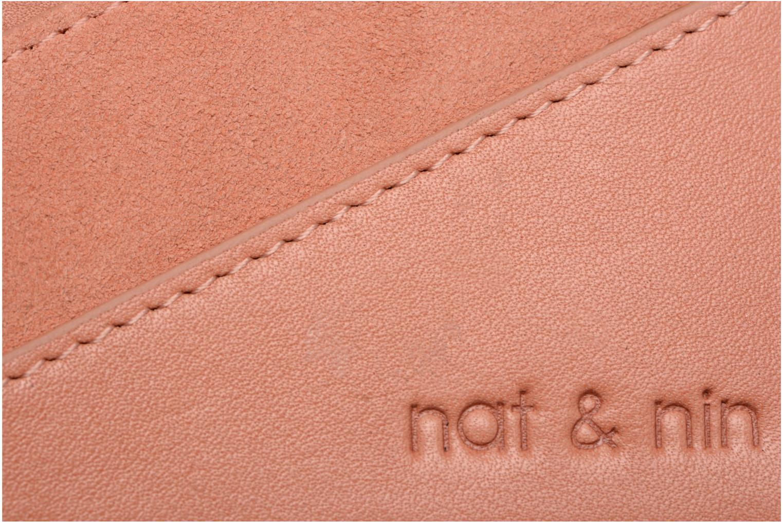 Petite Maroquinerie Nat & Nin Talia Rose vue gauche