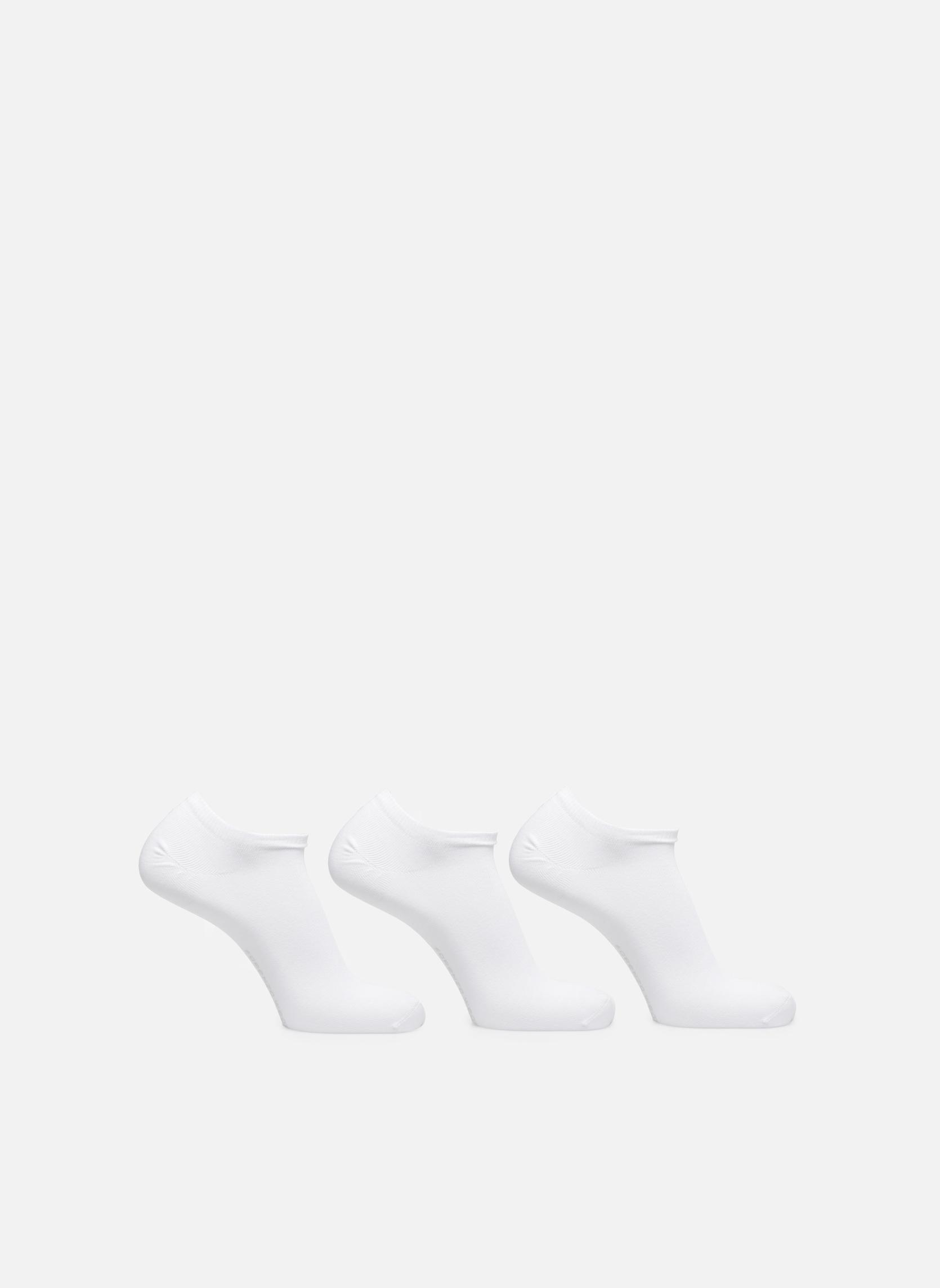 Chaussettes Homme Invisibles unies Pack de 3 Coton