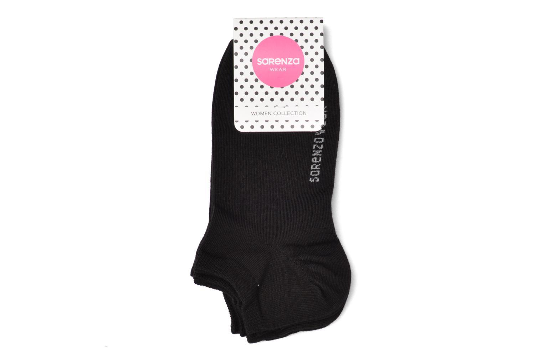 Chaussettes et collants Sarenza Wear Chaussettes invisibles femmes uni Pack 3 COTON Noir vue derrière