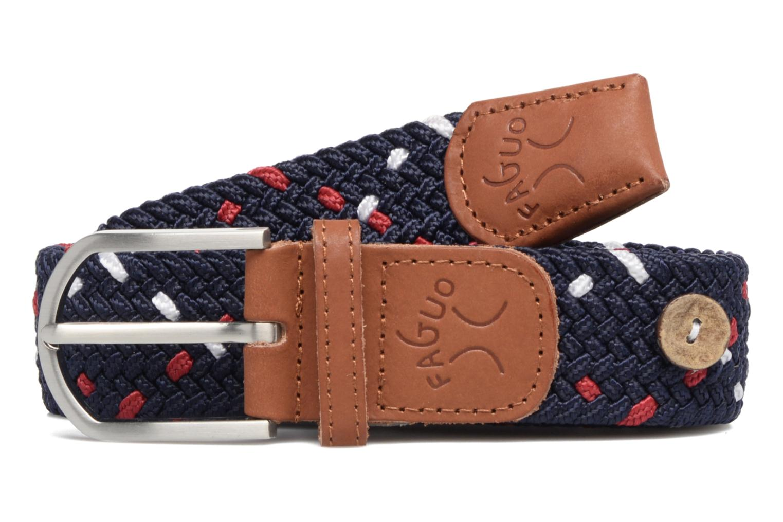 Cinturones Faguo Ceinture tressée tricolore Azul vista del modelo