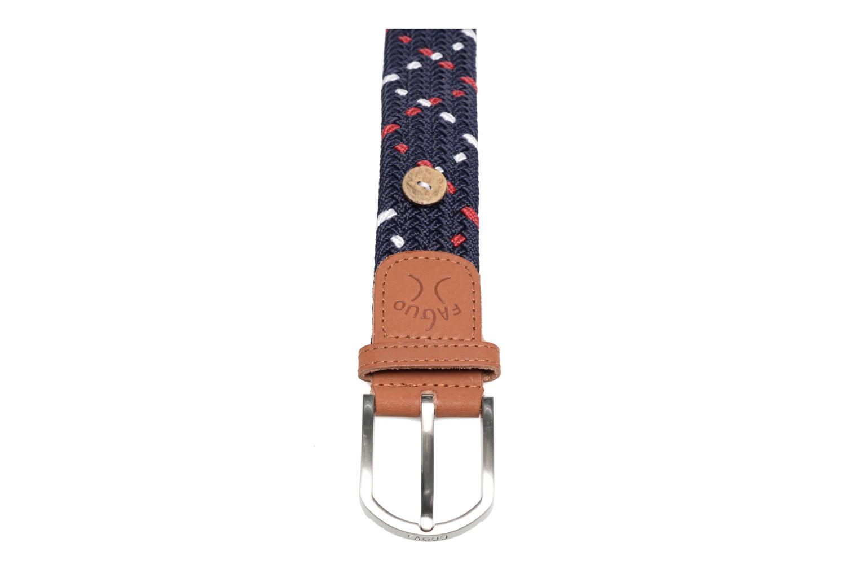 Cinturones Faguo Ceinture tressée tricolore Azul vista de frente