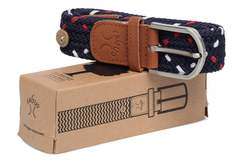Cinturones Faguo Ceinture tressée tricolore Azul vista de detalle / par