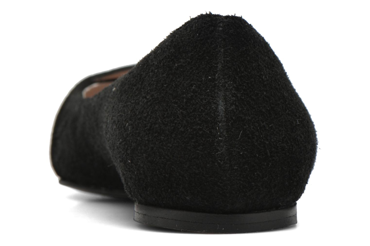 Ballet pumps Georgia Rose Jaol Black view from the right