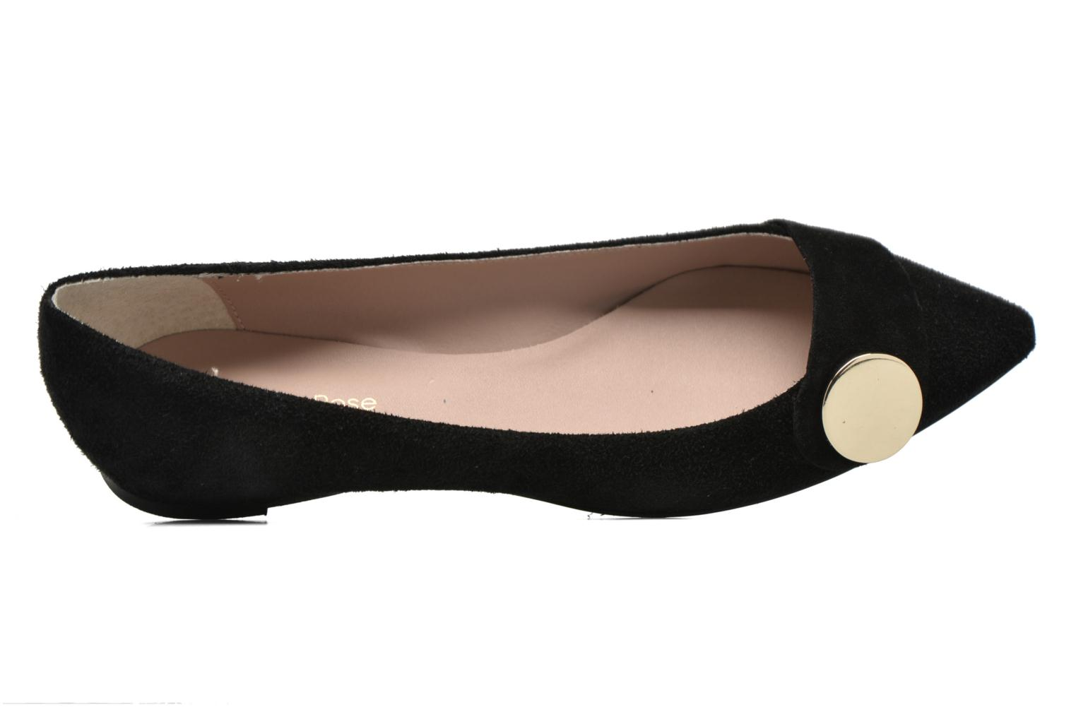 Ballet pumps Georgia Rose Jaol Black view from the left