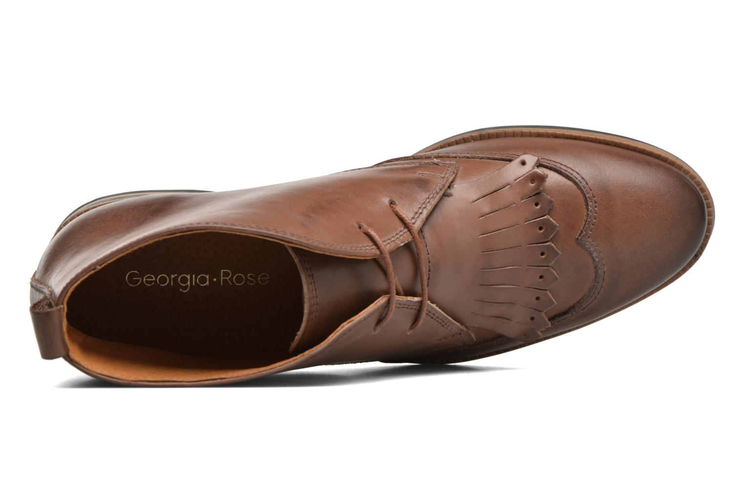 Lace-up shoes Georgia Rose Nineg Brown view from the left
