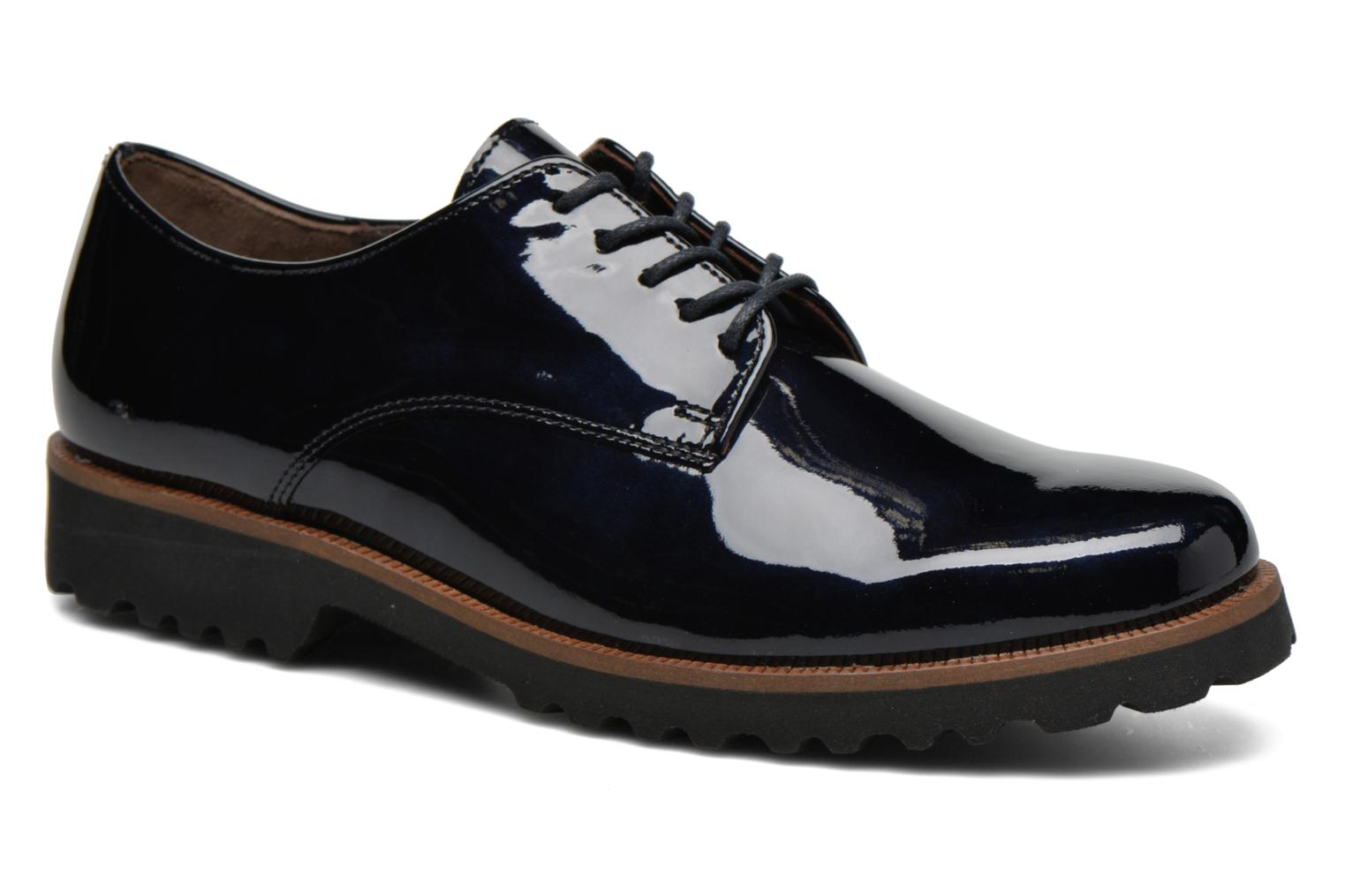 Lace-up shoes Gabor Brie Blue detailed view/ Pair view