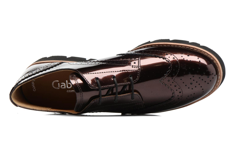 Chaussures à lacets Gabor Susan Rouge vue gauche