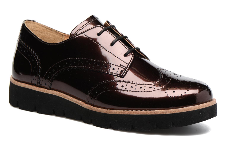 Chaussures à lacets Gabor Susan Rouge vue détail/paire