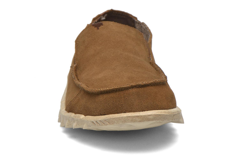Loafers DUDE Farty Suede Brun bild av skorna på