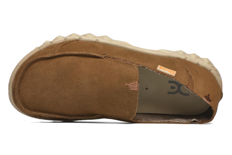 Loafers DUDE Farty Suede Brun bild från vänster sidan