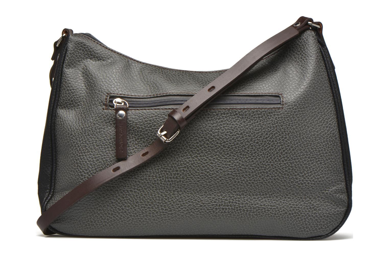 Handtaschen Paquetage Besace grainée grau ansicht von vorne