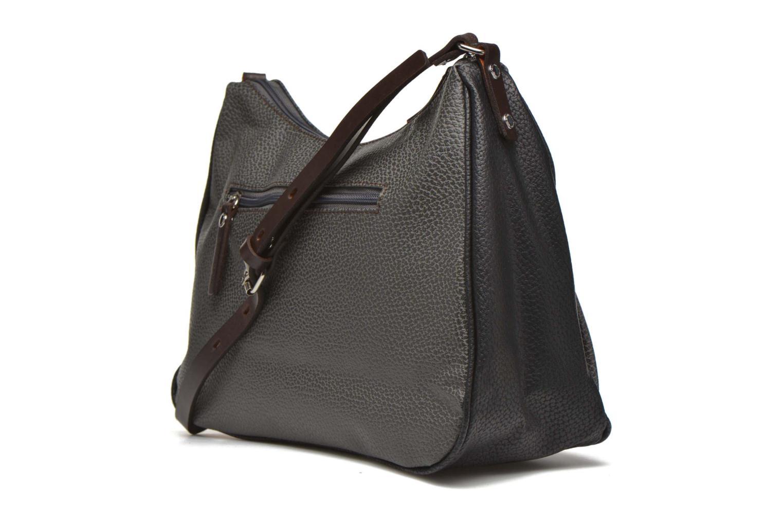 Handtaschen Paquetage Besace grainée grau ansicht von rechts