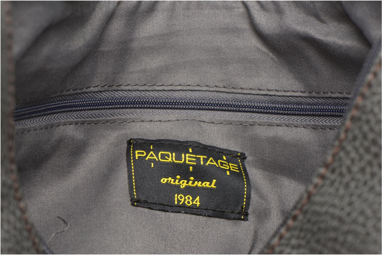 Handtaschen Paquetage Besace grainée grau ansicht von hinten