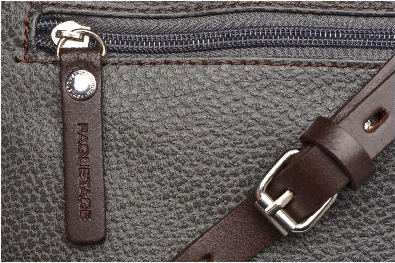 Handtaschen Paquetage Besace grainée grau ansicht von links