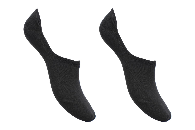 Chaussettes Protèges - Pieds Homme : pack de 2 coton Noir