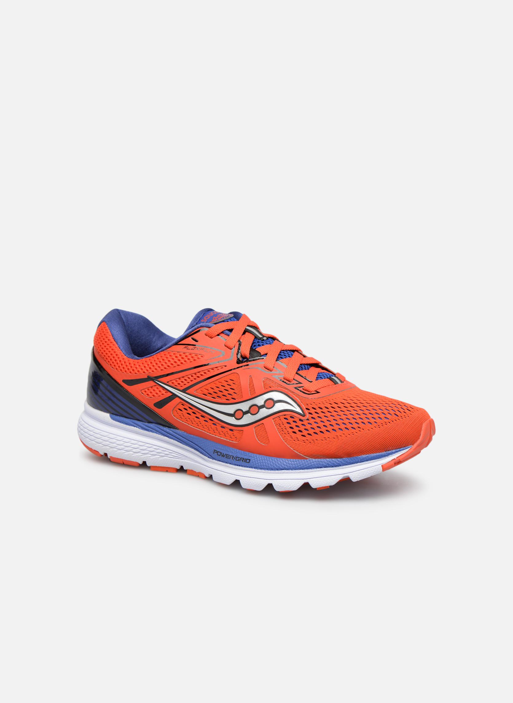 Chaussures de sport Saucony Swerve Rouge vue détail/paire
