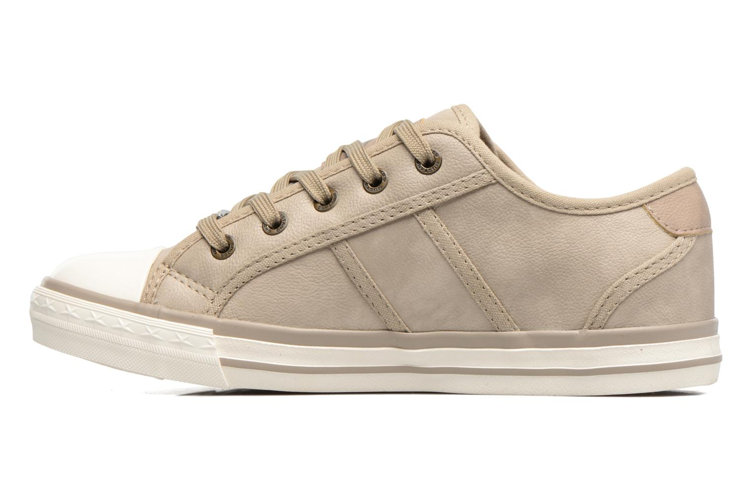 Baskets Mustang shoes Pluy Beige vue face