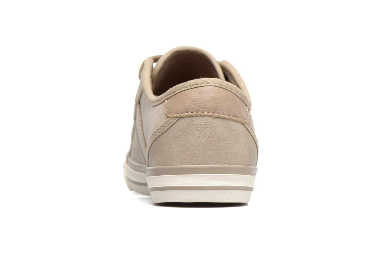 Baskets Mustang shoes Pluy Beige vue droite