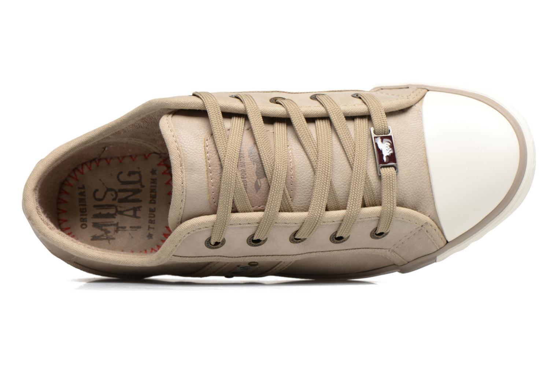 Baskets Mustang shoes Pluy Beige vue gauche