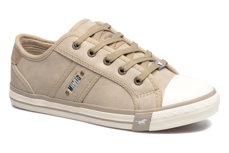 Baskets Mustang shoes Pluy Beige vue détail/paire