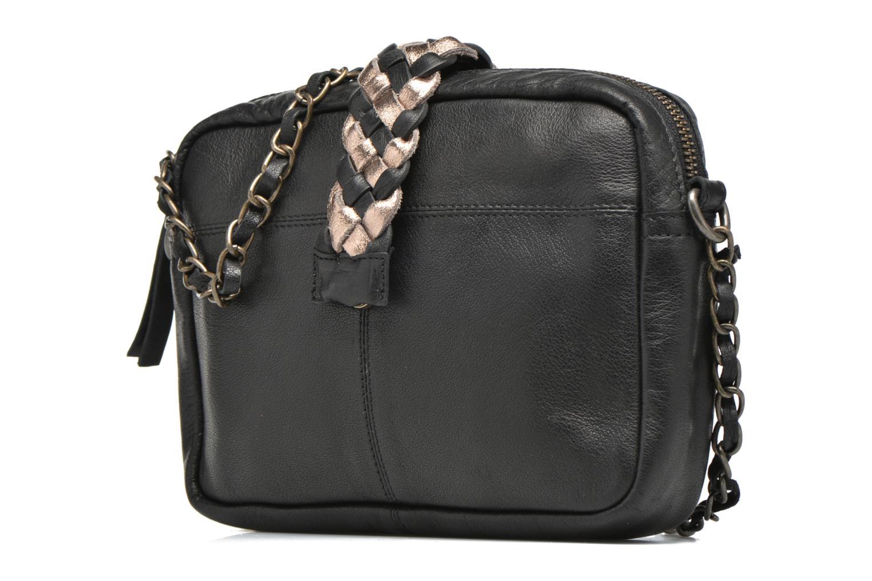 Handbags Pieces PIVO Leather Crossbody bag Black model view