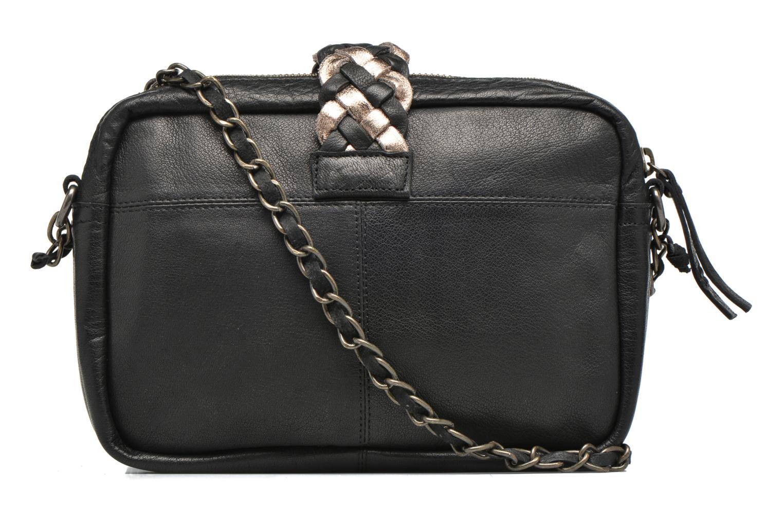 Handbags Pieces PIVO Leather Crossbody bag Black front view