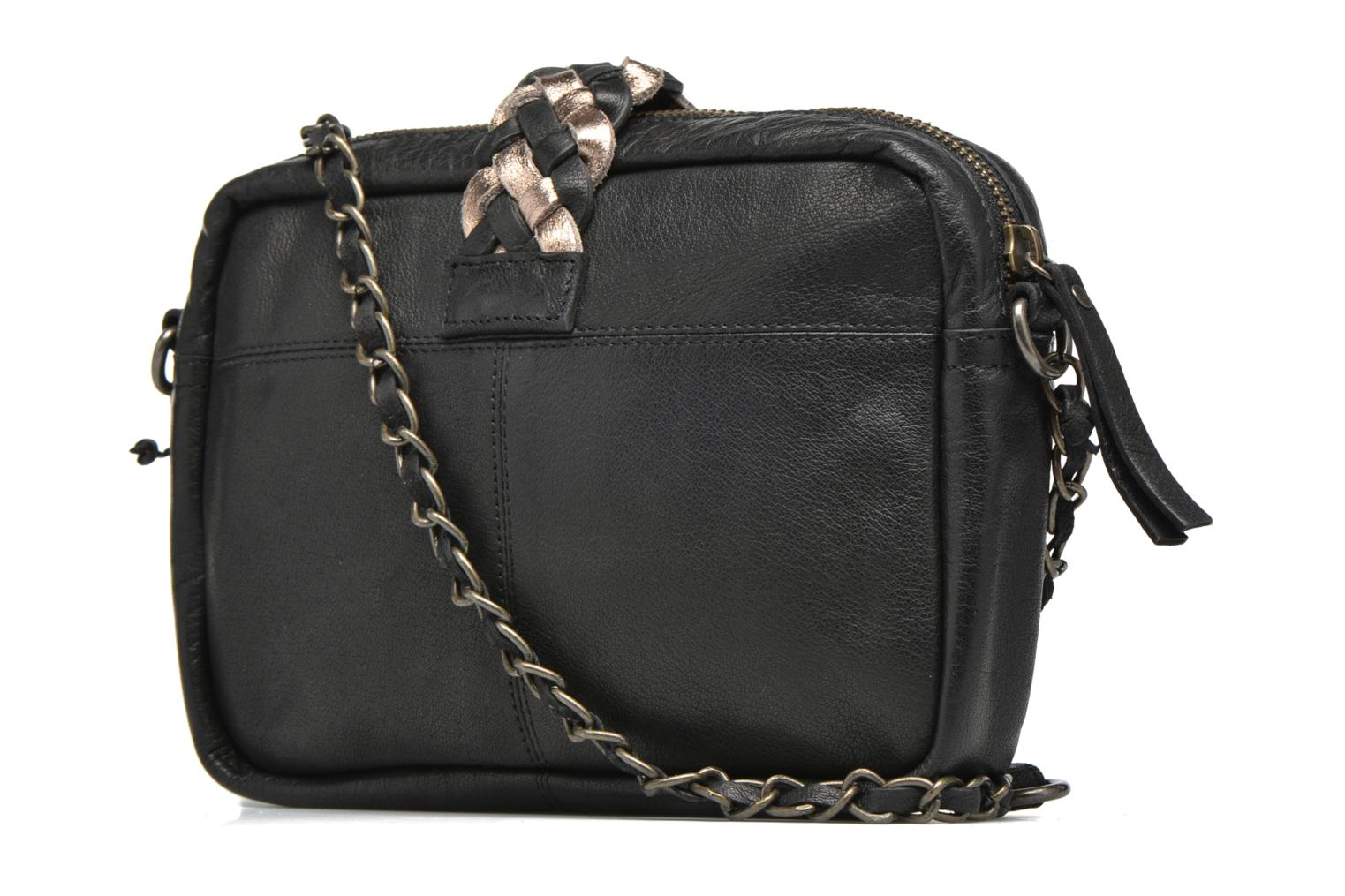 Handbags Pieces PIVO Leather Crossbody bag Black view from the right