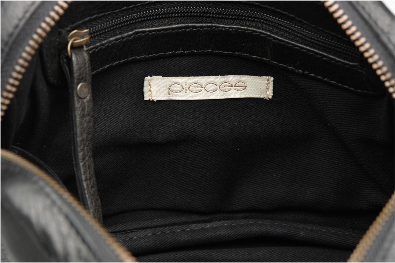 Bolsos de mano Pieces PIVO Leather Crossbody bag Negro vistra trasera