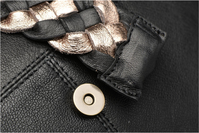Bolsos de mano Pieces PIVO Leather Crossbody bag Negro vista lateral izquierda
