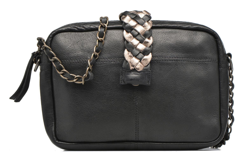 Bolsos de mano Pieces PIVO Leather Crossbody bag Negro vista de detalle / par