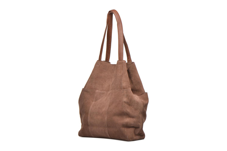 PIXA Suede bag Mocca