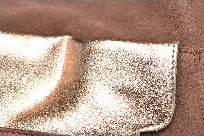Bolsos de mano Pieces PIXA Suede bag Marrón vista lateral izquierda