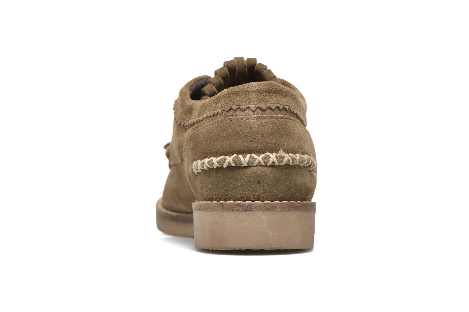 Lace-up shoes Coolway Carola Green view from the right