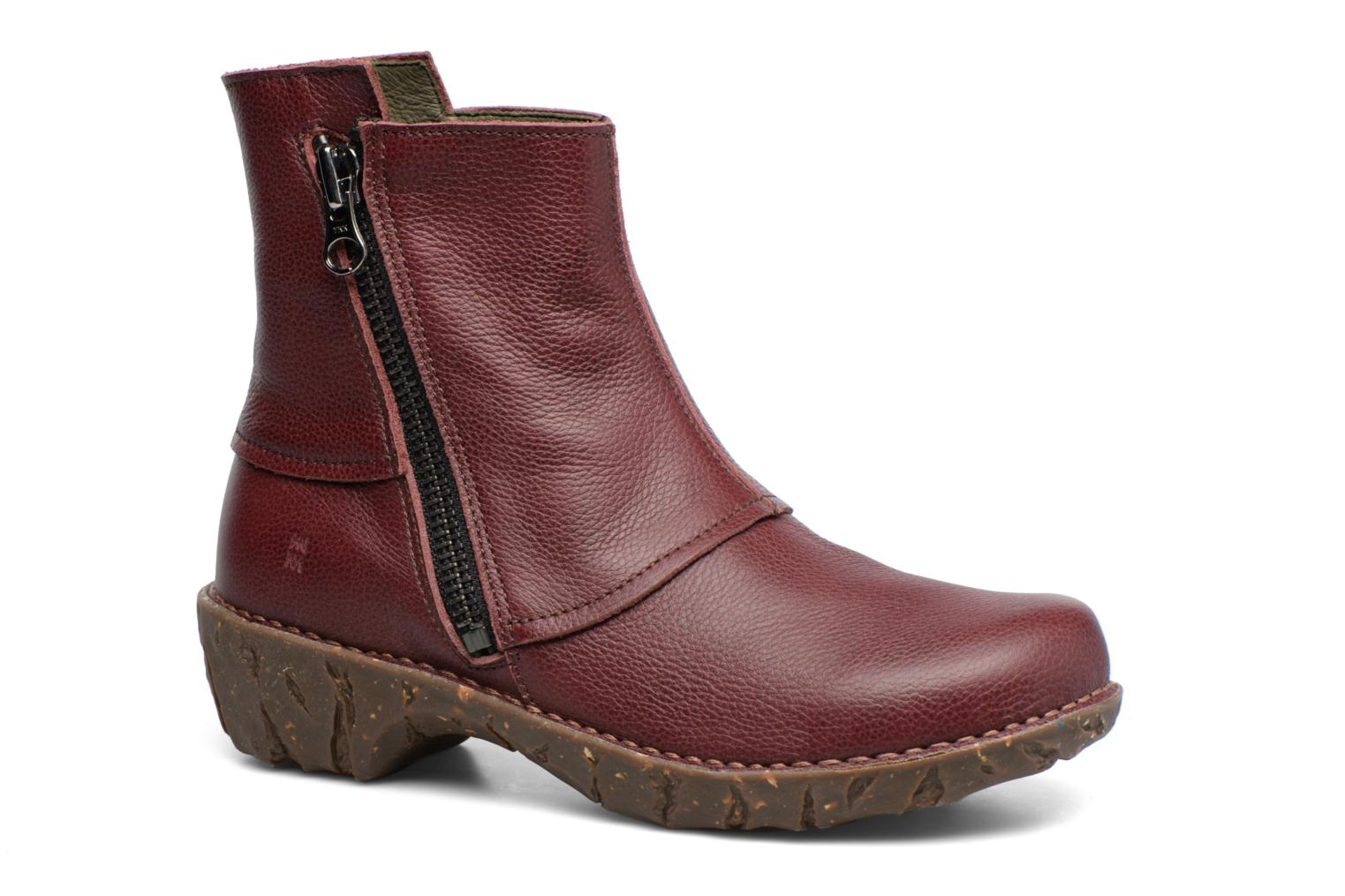 Ankle boots El Naturalista Yggdrasil NE28 Burgundy detailed view/ Pair view