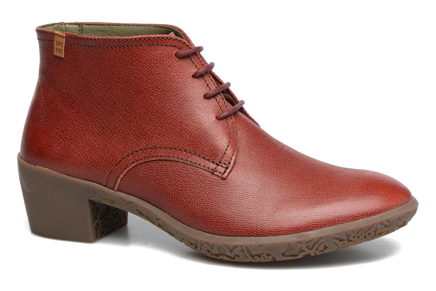 Lace-up shoes El Naturalista Alhambra NG11 Red detailed view/ Pair view