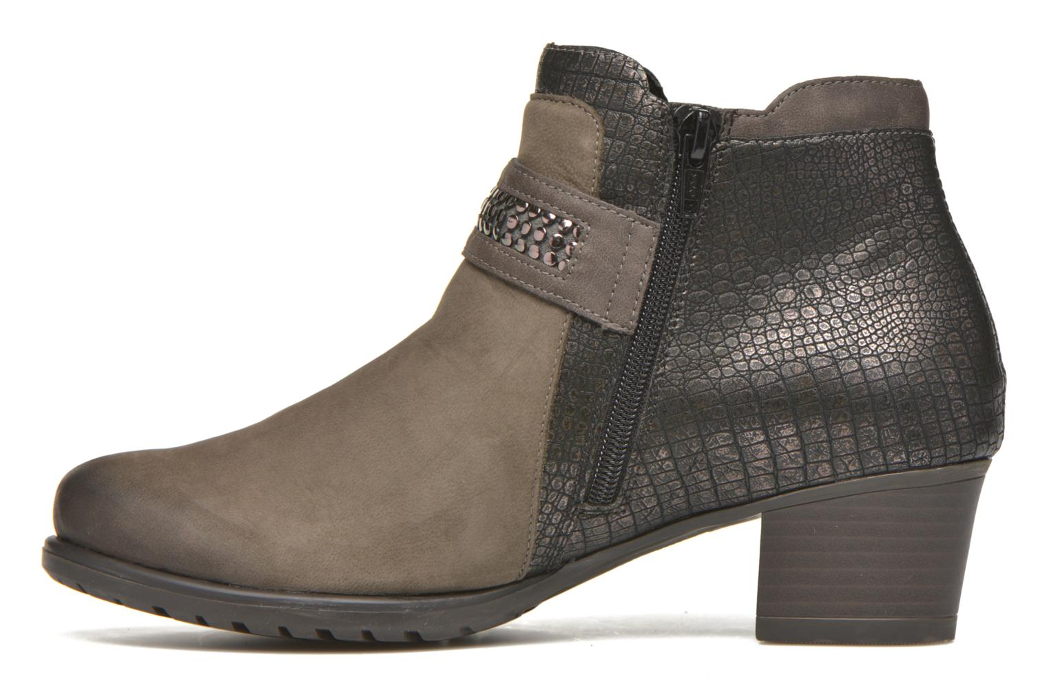 Ankle boots Remonte Andrea D3182 Grey front view