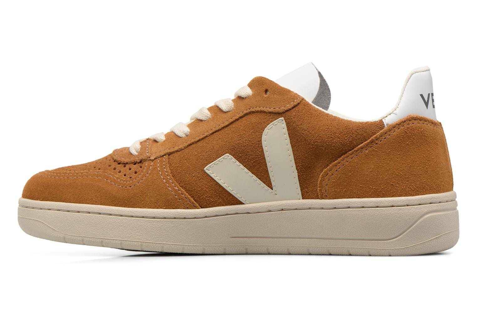Trainers Veja V-10 W Brown front view