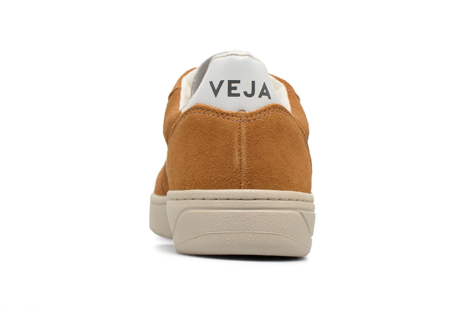 Trainers Veja V-10 W Brown view from the right
