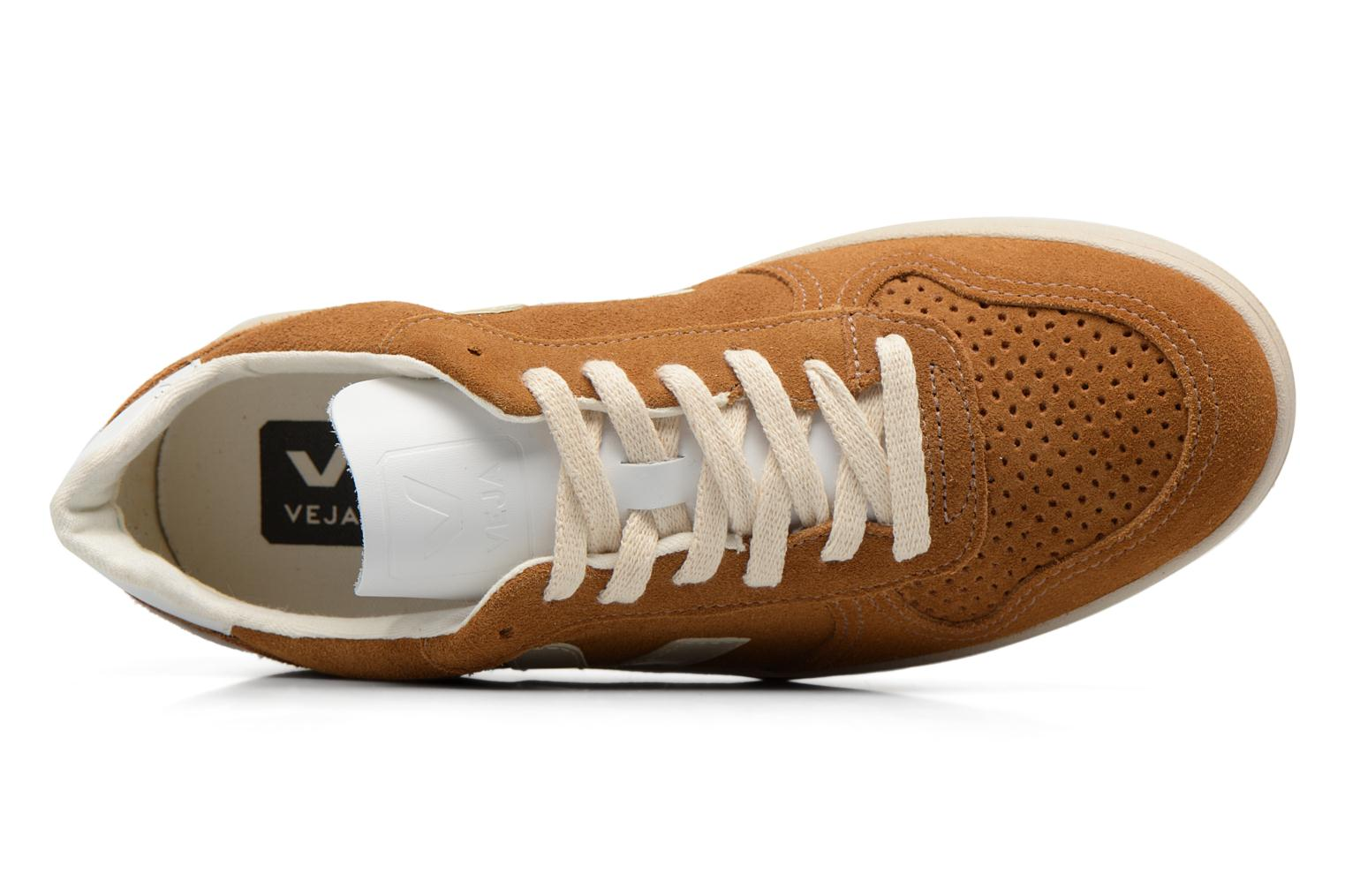 Trainers Veja V-10 W Brown view from the left