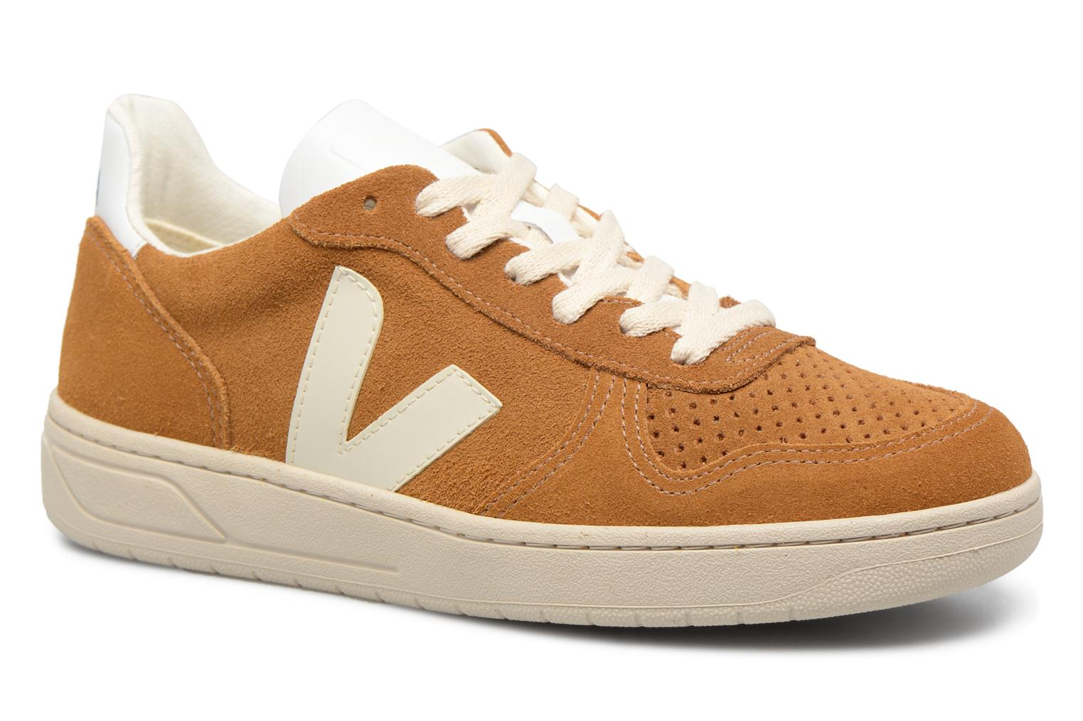 Trainers Veja V-10 W Brown detailed view/ Pair view
