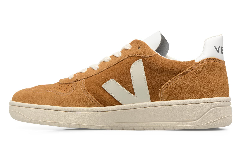 Sneakers Veja V-10 Bruin voorkant