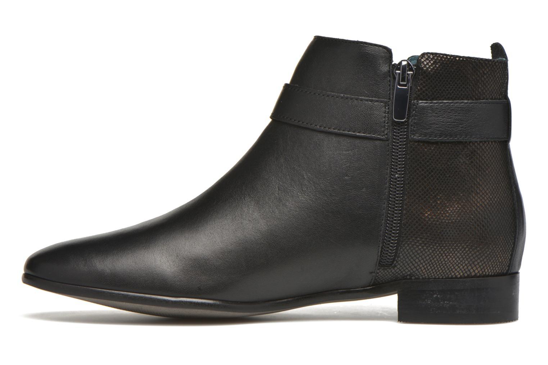 Ankle boots Karston JOYAU Vo NOIR/Mat.BRONZE ~Doubl & 1ere CUIR Black front view
