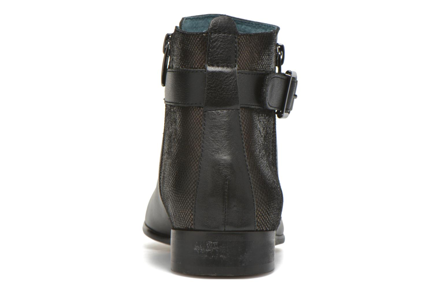 Ankle boots Karston JOYAU Vo NOIR/Mat.BRONZE ~Doubl & 1ere CUIR Black view from the right