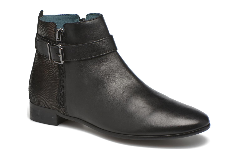 Ankle boots Karston JOYAU Vo NOIR/Mat.BRONZE ~Doubl & 1ere CUIR Black detailed view/ Pair view