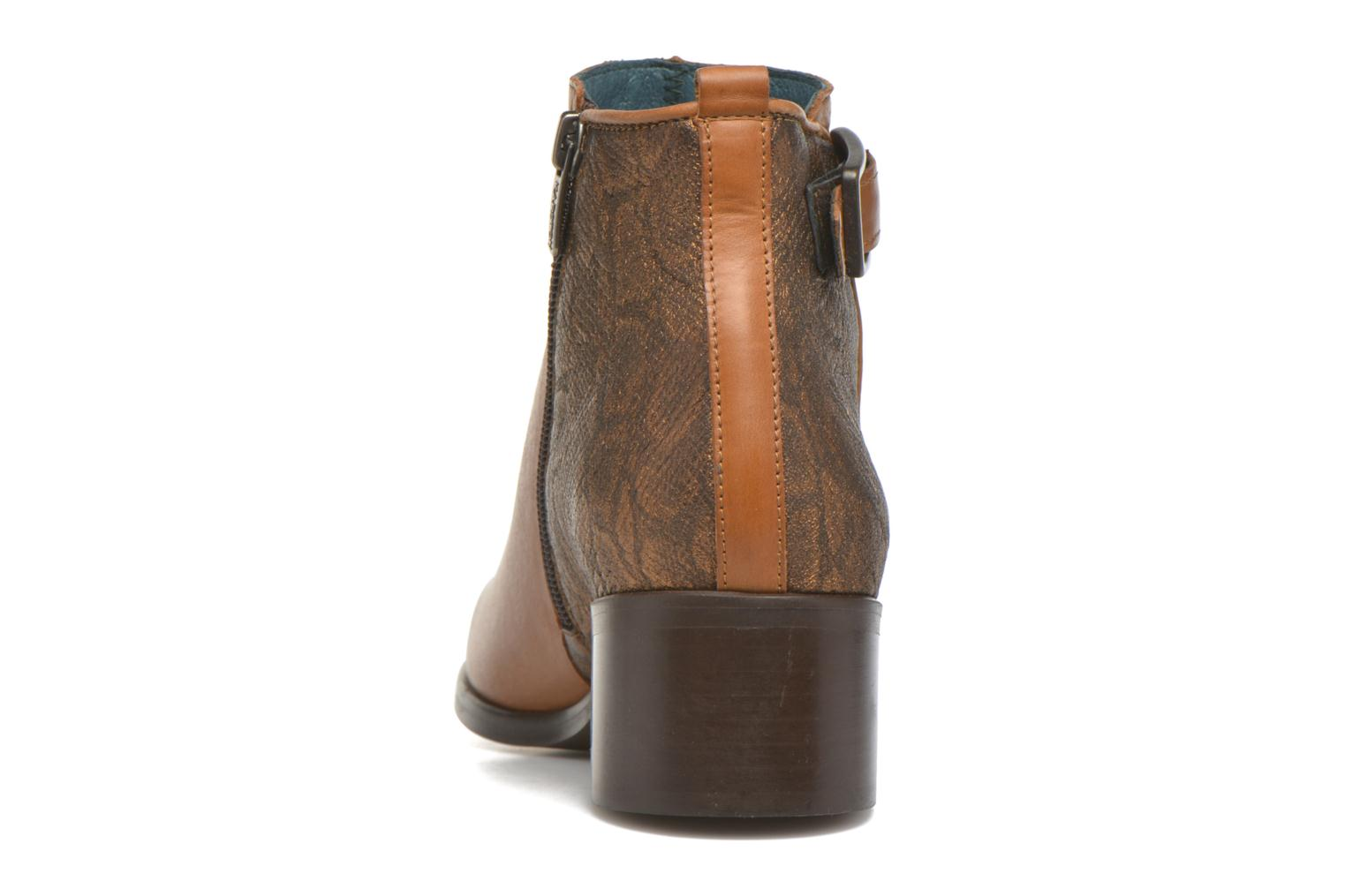 Ankle boots Karston GLELIN *Mult Vo Truck CAMEL ~Doubl & 1ere CUIR Brown view from the right