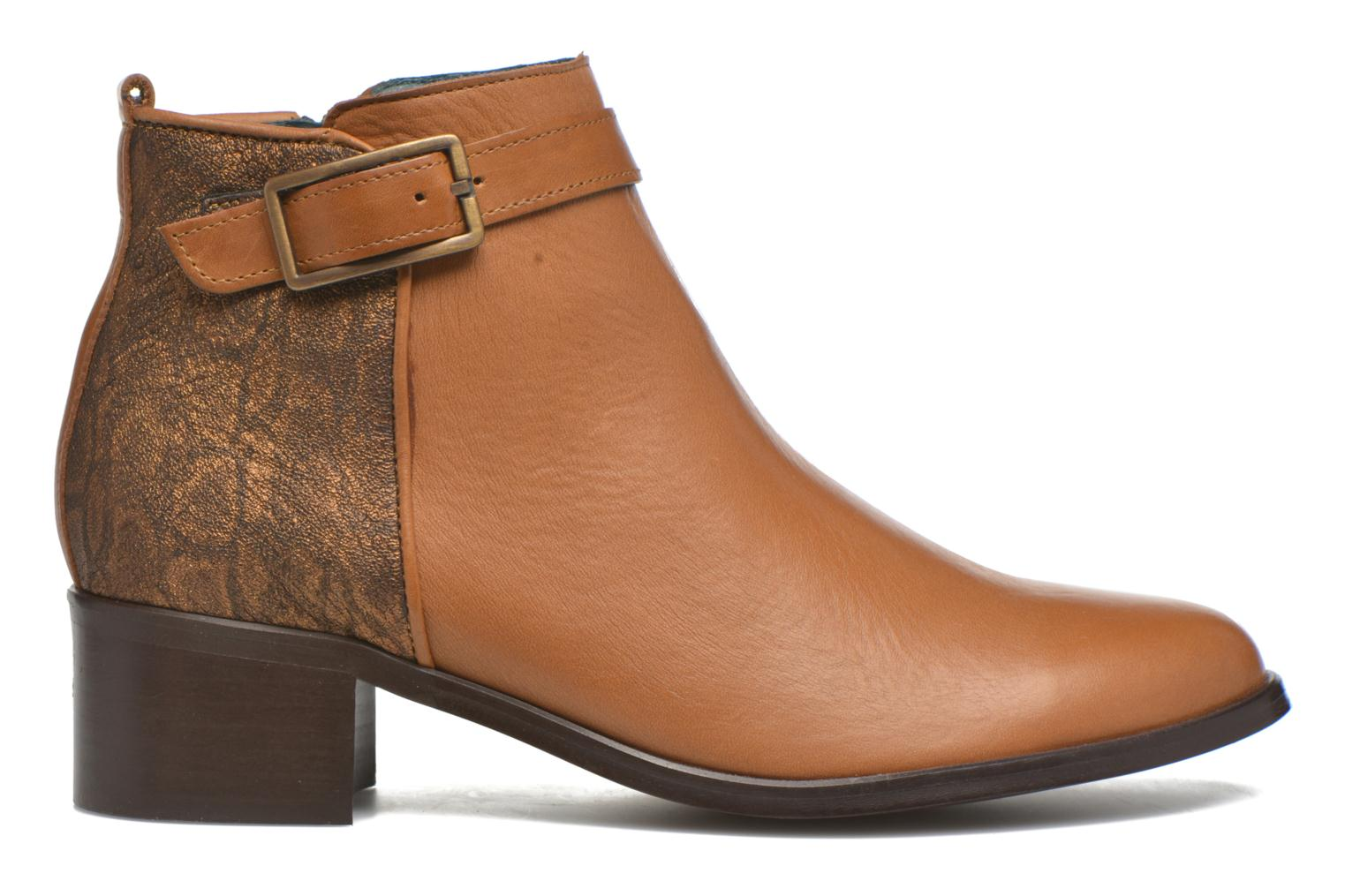 Ankle boots Karston GLELIN *Mult Vo Truck CAMEL ~Doubl & 1ere CUIR Brown back view