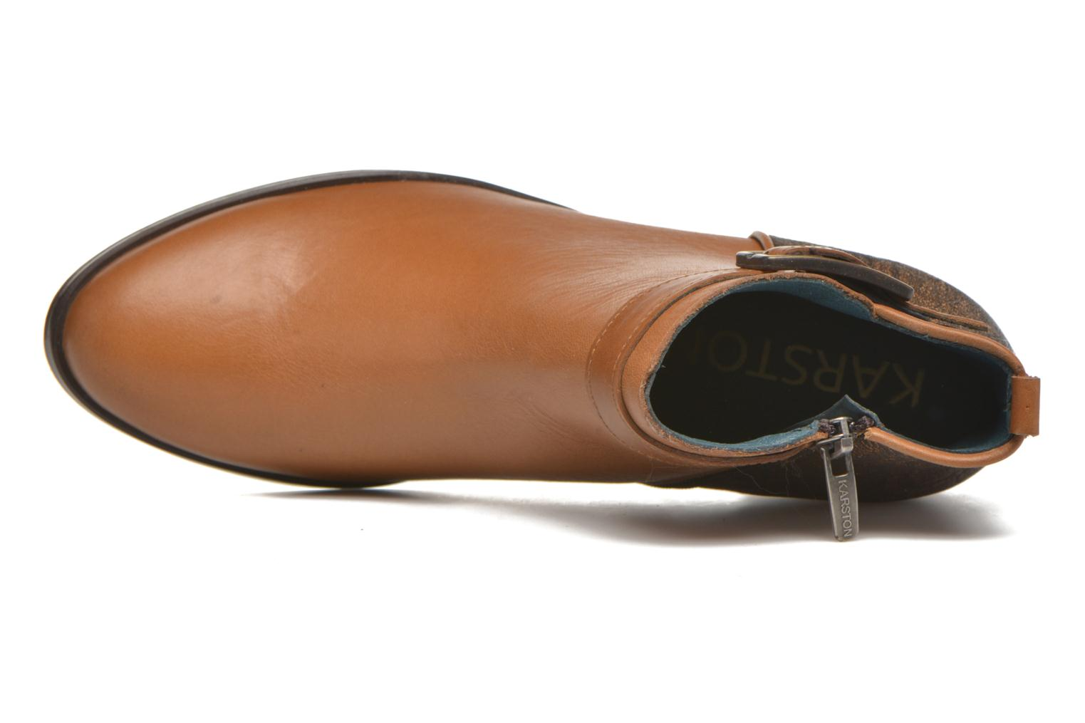 Ankle boots Karston GLELIN *Mult Vo Truck CAMEL ~Doubl & 1ere CUIR Brown view from the left
