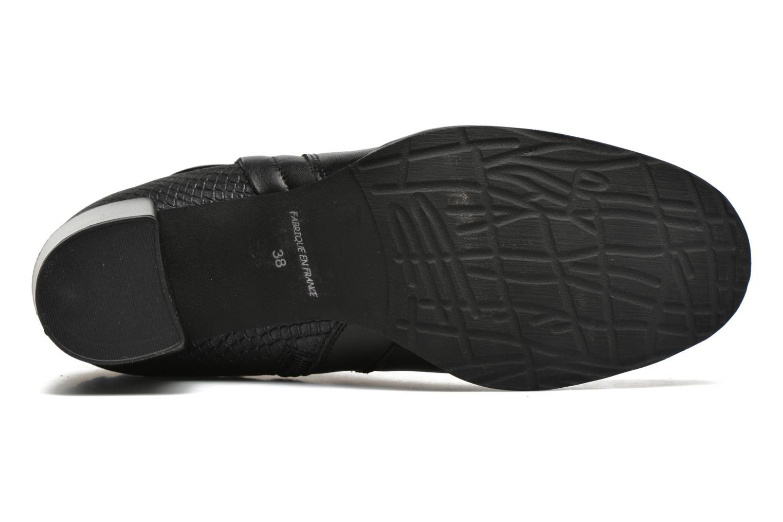 Stiefeletten & Boots Karston GLOUPI #Mult Vo Milled NOIR ~Doubl & 1ere CUIR schwarz ansicht von oben